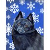 Caroline's Treasures Schipperke Winter Snowflakes Holiday House Vertical Flag