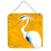 Caroline's Treasures Bird Blue Heron Col Mustard Aluminum Hanging Painting Print Plaque