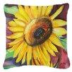 Caroline's Treasures Sunflowers Indoor/Outdoor Throw Pillow