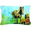Caroline's Treasures Horse Grazin Indoor/Outdoor Throw Pillow