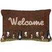 Caroline's Treasures Welcome Mat with Cows Indoor/Outdoor Throw Pillow