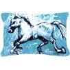 Caroline's Treasures Shadow The Horse Indoor/Outdoor Throw Pillow