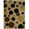 Rugnur Pasha Maxy Home Contemporary Dots Brown/Black Area Rug