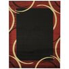 Rugnur Pasha Maxy Home Contemporary Arches French Border Black/Red Area Rug