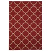 Rugnur Hammam Maxy Home Moroccan Trellis Red Area Rug
