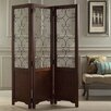 """Darby Home Co 68.25"""" x 56.13"""" Reece Scroll 3 Panel Room Divider"""