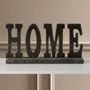 "Darby Home Co Golding Table Top ""Home"" Letter Block"