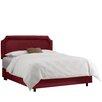 Alcott Hill Velvet Notched Bed