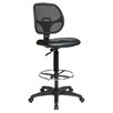 Varick Gallery Glendale Height Adjustable Drafting Chair with Footring