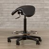 Varick Gallery Height Adjustable Backless Stool with Saddle Seat