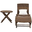 Brayden Studio Perkins Outdoor 3 Piece Chair Set