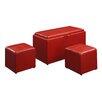 Brayden Studio Leander 3 Piece Storage Ottoman Set