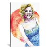 Brayden Studio Marilyn Monroe by Rongrong DeVoe Painting Print on Wrapped Canvas