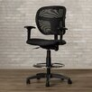 Brayden Studio Terrance Height Adjustable Drafting Stool with Curved Back