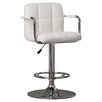 Wade Logan Compton Martin Adjustable Height Swivel Bar Stool with Cushion