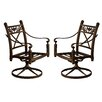 California Outdoor Designs Baldwin Swivel Rocker Chair (Set of 2)