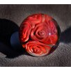 Grace White Glass American Beauty Round Knob