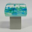 Grace White Glass Dancing Water Square Knob