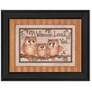 Millwork Engineering Whoooo Loves You Mary June Framed Painting Print