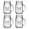 Lark Manor Butterfly 4 Piece Drinking Jar Set