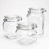 Housewares International Blue Harbor 3-Piece Glass Jar Set
