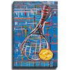 Bashian Home Tennis Racquet by Patch Wihnyk Painting Print on Canvas