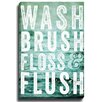 Bashian Home Wash Brush Floss byLisa Russo Graphic Art on Canvas