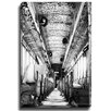 Bashian Home Industrial Train BW by Dean Penn Photographic Print on Canvas