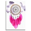 Bashian Home Fuchsia Dream Catcher by Kelsey McNatt Painting Print on Wrapped Canvas