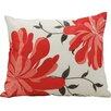 Nourison Corner Embroidered Flower Outdoor Throw Pillow
