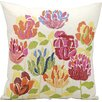 Nourison Embroidered Tulips Throw Pillow