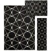 Nourison Nova 3 Piece Hand Crafted Black Area Rug Set
