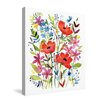 Laural Home Anne's Flowers by Anne Tavoletti Graphic Art on Canvas