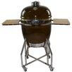 "All-Pro KAMADO Stainless Steel Cart with Side Shelves for 19"" Grill"