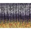 Hadley House Co Night Time Poem Contemporary Landscape by Daniel Lager Painting Print on Canvas
