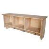 International Concepts Wall Shelf Unit with Storage