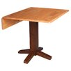 """International Concepts Square Dual Drop Leaf 36"""" Extentable Dining Table"""
