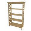 """International Concepts Unfinished Four Tier 48"""" Etagere"""
