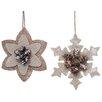 August Grove 2 Piece Snowflake Ornament Set