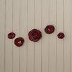 August Grove Corene Shawnee Magenta Roses 5 Piece Wall Décor Set