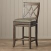 "One Allium Way Tatiana 26"" Swivel Bar Stool with Cushion"