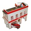 FunDeco Fire Station Dollhouse