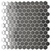Eden Mosaic Tile Stainless Steel Mosaic Tile in Silver Snow