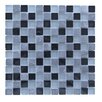 """Abolos Mineral 1"""" x 1"""" Glass and Slate Mosaic Tile in Antigua"""