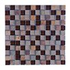 """Abolos Mineral 1"""" x 1"""" Glass and Slate Mosaic Tile in Multi"""