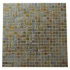 """Abolos Ecologic 0.38"""" x 0.38"""" Glass Mosaic Tile in Brushed Gold"""