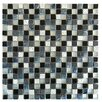 "Abolos 0.63"" x 0.63"" Glass and Quartz Mosaic Tile in Multi"