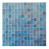 "Abolos LEED Amber 0.75"" x 0.75"" Glass Mosaic Tile in Royal Blue"