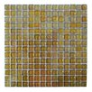 "Abolos LEED Amber 0.75"" x 0.75"" Glass Mosaic Tile in Ocher Star"