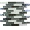 """Abolos Geo 1"""" x 4"""" Glass Mosaic Tile in Monte Sargo"""